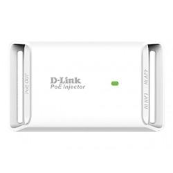 D-LINK 1-Port Gigabit PoE Injector - 2x 10/100/1000Mbit TP - Half-/Full-Duplex - up to 19,2W Power Output