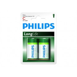 PHILIPS battery longlife C 2TK/PK