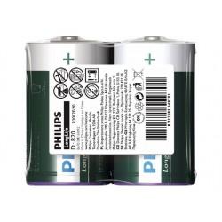 PHILIPS battery longlife D  2TK/PK