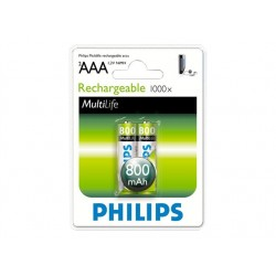 Philips Rechargeable battery LR03 AAA, 800 mAh, 2-blister (HR03), f