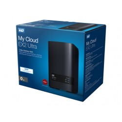 WD My Cloud EX2 Ultra NAS 0TB personal cloud storage case 2-bay Dual Gigabit Ethernet 1.3GHz CPU DNLA RAID1 NAS RTL